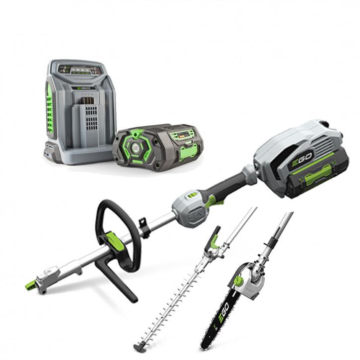 EGO Multi-Tool<br>MHCC1002E<br>SET 2 Aufsätze<br>inkl. 2.5 Ah Batterie und Schnell-Ladegerät