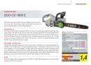 EGO Motorsäge CS1600E<br>40 cm Schnittlänge